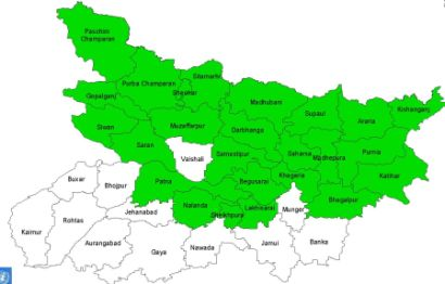 13 districts in india flooded