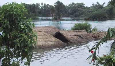 Flood waters destroying villages across india